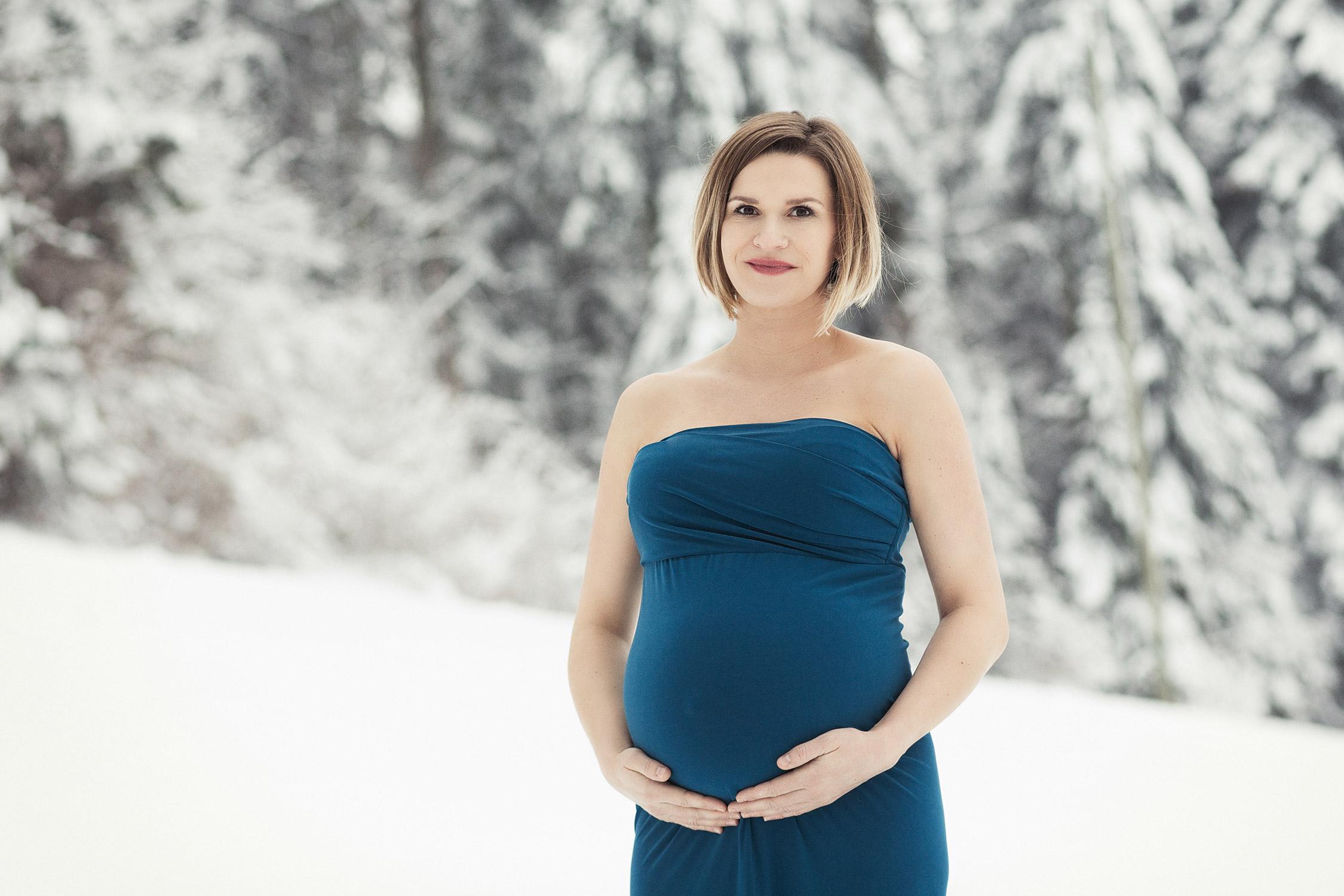 neuchatel, grossesse, hiver, neige